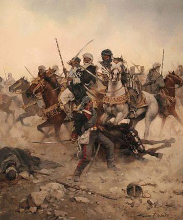 Donde muere mi caballo, muero yo. Guerra de Marruecos, 1859-1860.