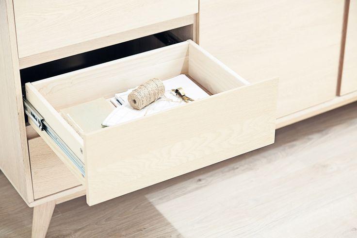 KALBY skjenk, detaljer skuff | Classic Living | Skandinaviske hjem, nordisk design, Skandinavisk design, nordiske hjem | JYSK