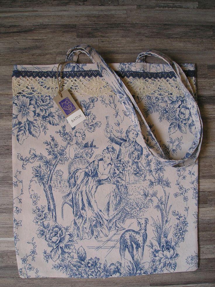 Bolso de loneta Toile de Jouy  http://battuk.blogspot.com.es/
