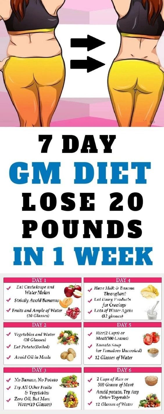 7-Day GM Diet Plan To Lose 20 Pounds of Fat In 1 Week