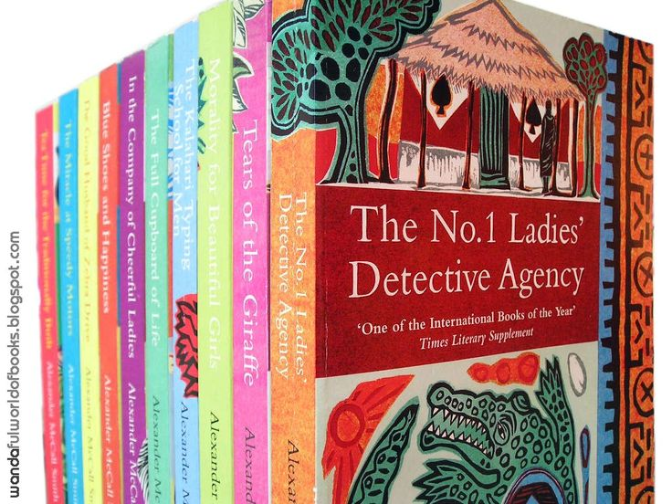 """The Ladies 1 Detective Agency Series. Precious Ramotswe is one of my favorite fictional characters. She is a 'traditionally built,"""" clever African woman who solves crime and other mysteries, with the help of her no nonsense assistant Grace Makutsi. It's so refreshing to read 3 dimensional characters of color especially in this genre."""