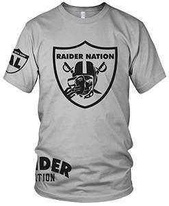 ff4e0b66b1a Raider Nation Grey Skull T-Shirt (New) Oakland Silver   Black Al Davis  Edition (5X-Large)