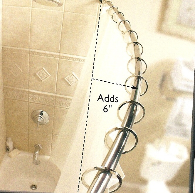 curved shower curtain rod? | Home Sweet Home | Pinterest