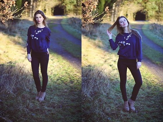 Get this look: http://lb.nu/look/8603903  More looks by Jenny: http://lb.nu/jela  Items in this look:  Zaful Sweater, H&M Pants, H&M Shoes   #casual #minimal #romantic #german #winter #flowers #bluesweater #autum #fall
