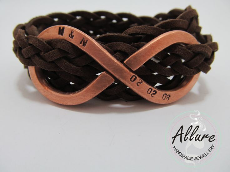 Copper and Leather men's bracelet