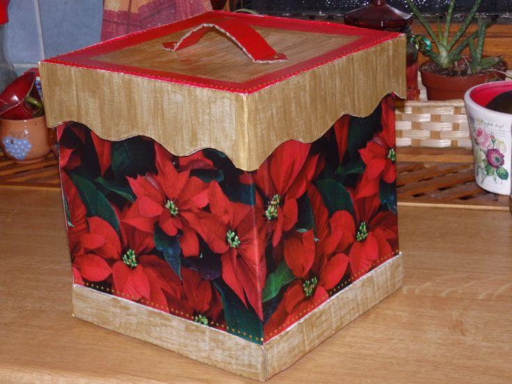 Karácsonyi doboz, újrahasznosítással