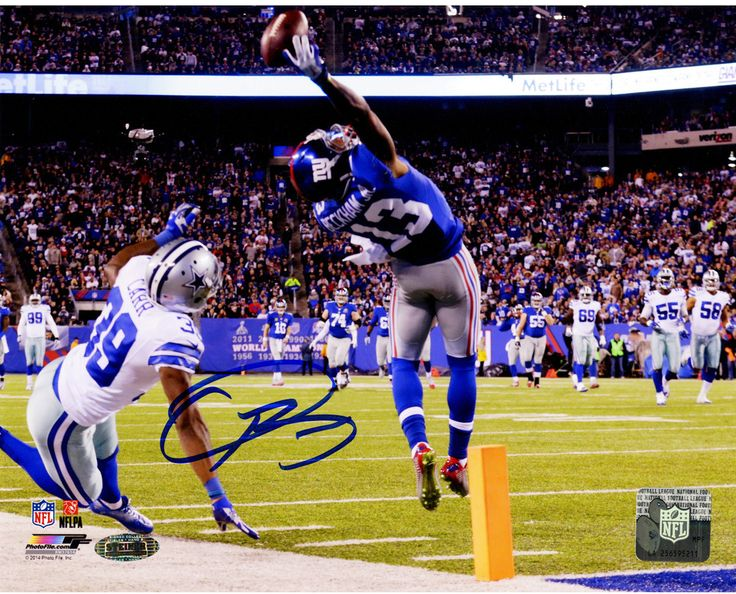 Odell Beckham Jr's Signed One-Handed Touchdown Catch 8x10 Photo