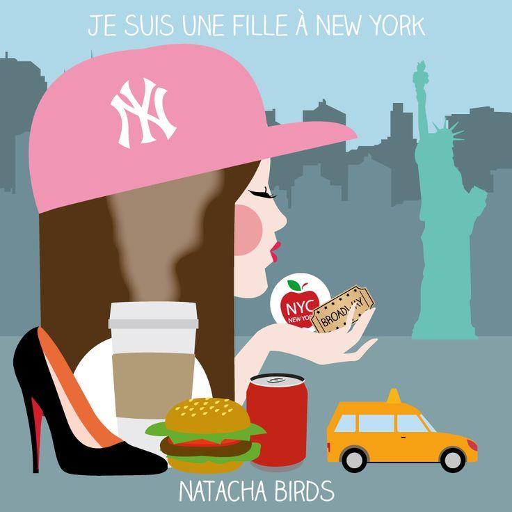 Je suis une fille à New York.