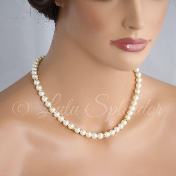 Goldene Hochzeits Kulisse Halskette Hochzeit Kette von LuluSplendor