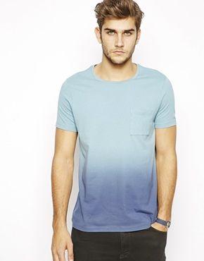 ASOS T-Shirt With Spray Dip Dye Effect