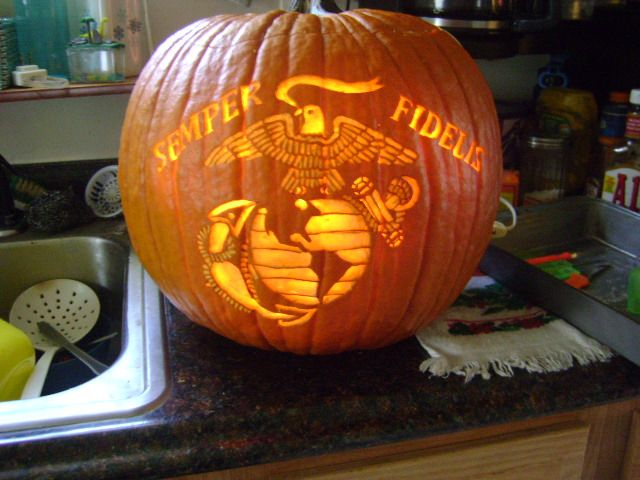 Usmc pumpkin marine corps stencil halloween
