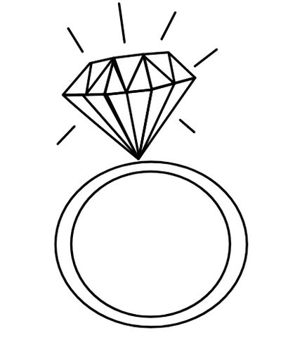 Wedding Diamond Ring Coloring Page Wedding Ring Coloring Pages