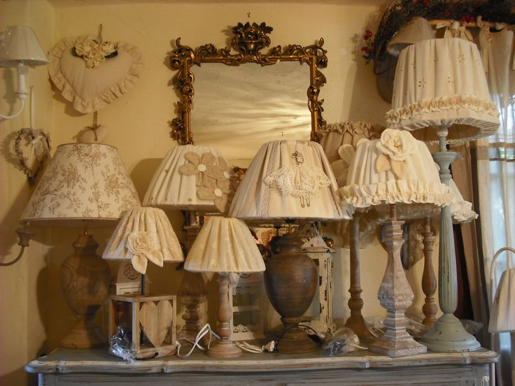 124 best images about paralumi on Pinterest  Fai da te, Shabby and Lace lamp