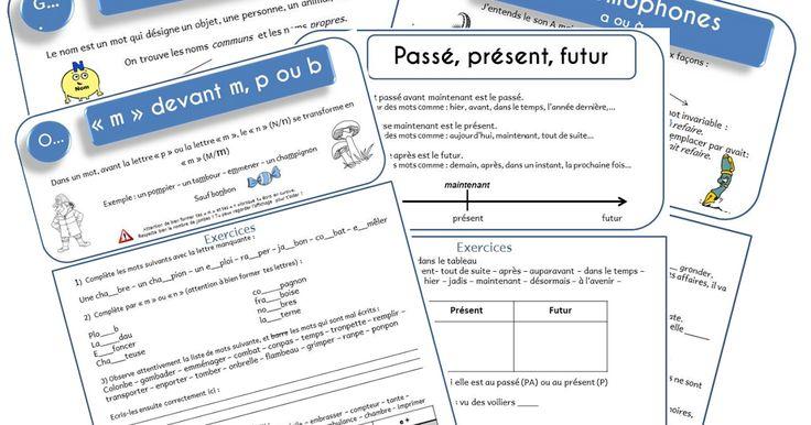 Leçons de grammaire, orthographe et conjugaison ce2/cm1