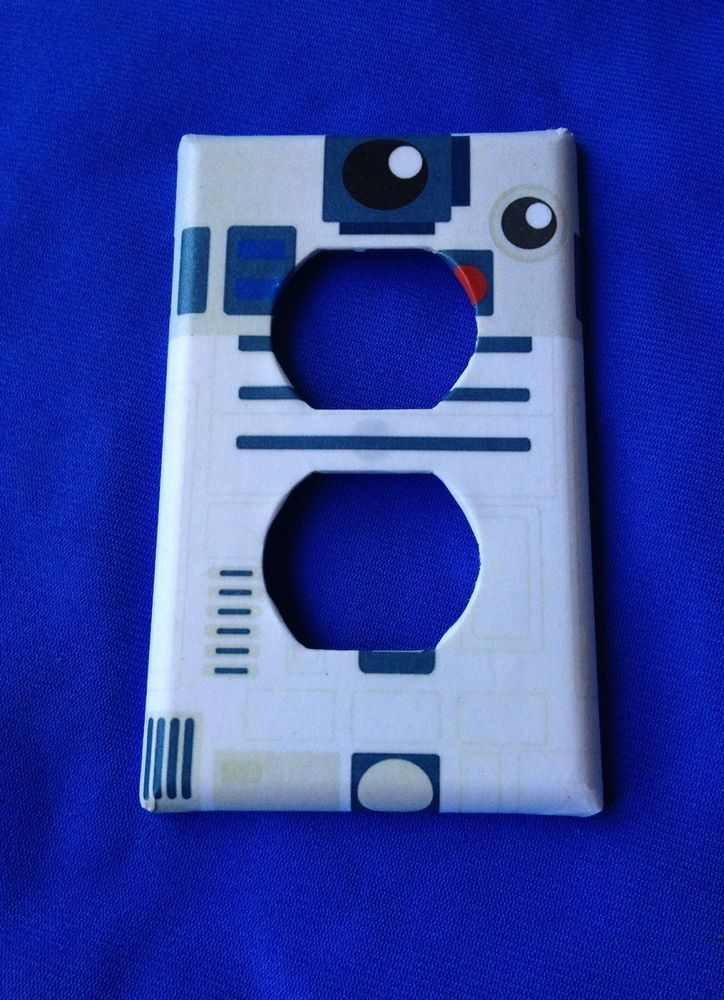 STAR WARS R2D2 Single Outlet,Rocker,Toggle light switch Cover and Key Holder #Nerdgasmo
