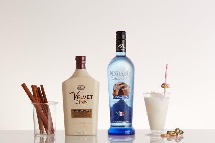 PINNACLE® CINNABON® & SPICE 2 parts Pinnacle® Cinnabon® Vodka 1 part Cruzan® Velvet Cinn™ Horchata con Rum  ______ Shake and serve over rocks. Garnish with a mini cookie.