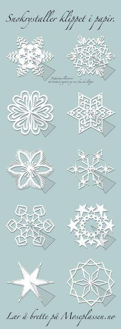 Papierschneeflocken, Sterne, Blumen
