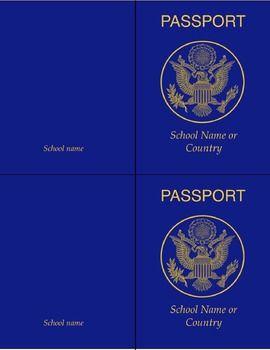 25 best ideas about passport template on pinterest