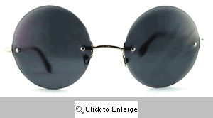POP Rimless Round Sunglasses - 153 Smoke