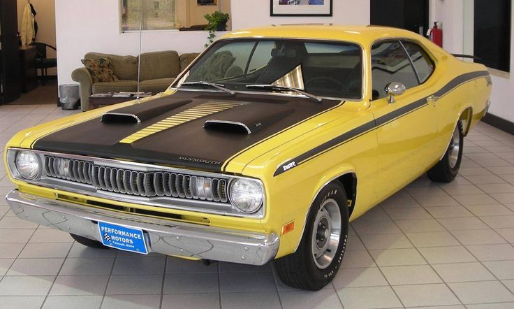 1971 Plymouth Duster 340 In Lemon Twist