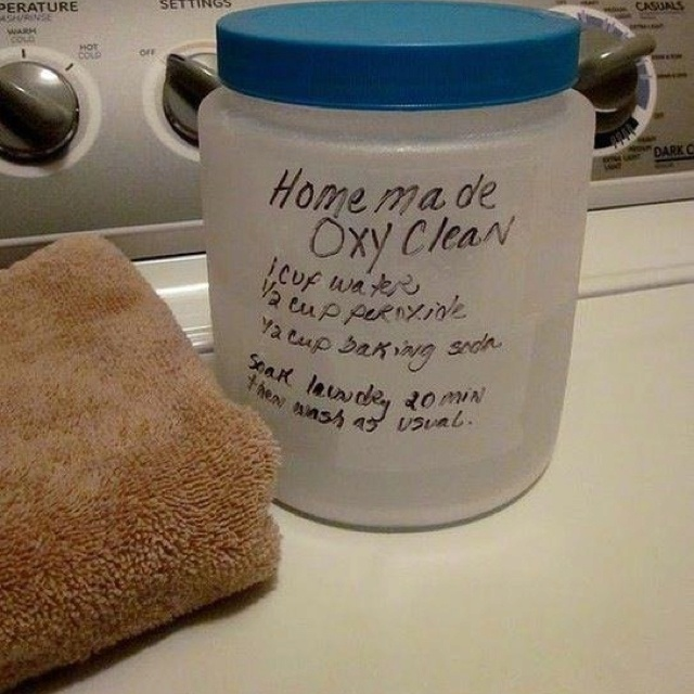 Home made oxy clean.