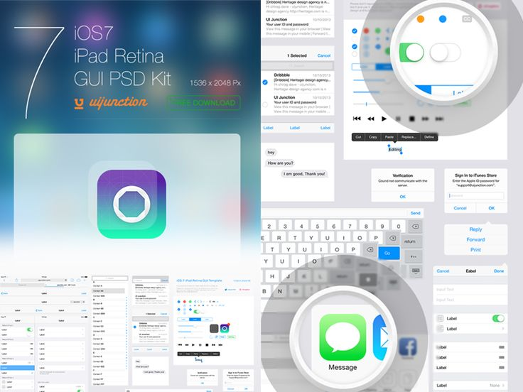 iOS7 iPad GUI Template Available for download by chirag dave - uijunction