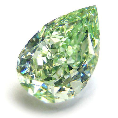 1.25ct. Pear Shape Fancy green diamond