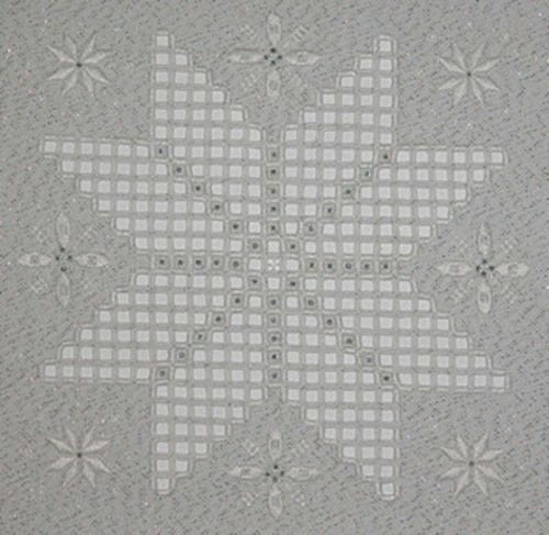 free star hardanger patterns | Winter Sparkle – Chart Star Sampler in Hardanger. • Model can be ...