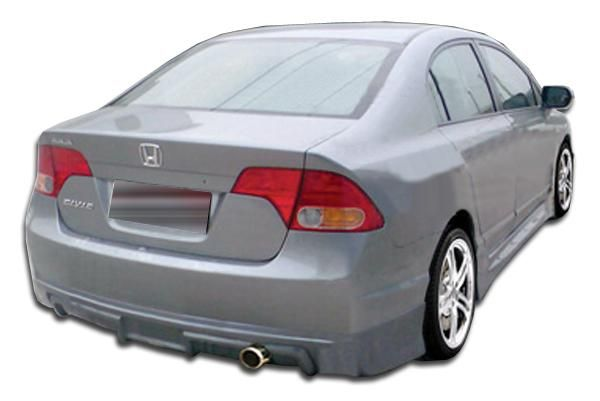 2006-2008 Honda Civic 4DR Duraflex Type M Rear Lip Under Spoiler Air Dam - 1 Piece (Overstock)