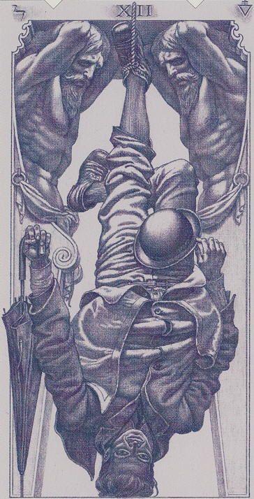 The Hanged Man - Tarot of the III Millennium -- If you love Tarot, visit me at www.WhiteRabbitTarot.com