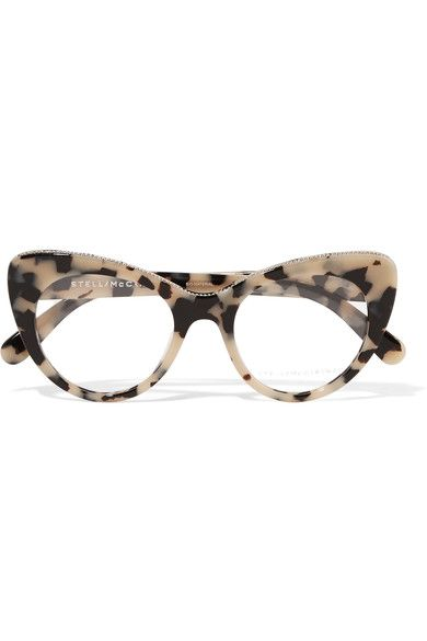 Stella McCartney | Chain-trimmed cat-eye acetate optical glasses | NET-A-PORTER.COM