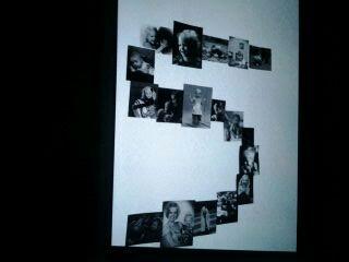 Numero hecho con fotos desde bebe hasta sus 5 añitos