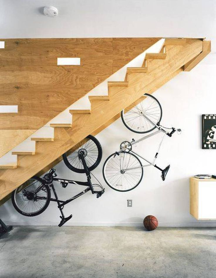 Bicycle Storage Space Under Stairs