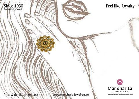 Shared from www.facebook.com/manoharlaljewellers  Today's ‪#‎Gold‬-rates are : ‪#‎24kt‬.:- Rs 26,700 ‪#‎22kt‬.:- Rs 24,480 ‪#‎18kt‬.:- Rs 20,030  ‪#‎Platinum‬ Rate: Rs 31,200  Visit our nearest showroom and explore our exclusive range of beautiful jewelry, designs, new arrivals & lot more. Showrooms at : Defence Colony, Kohat Enclave, Preet Vihar & Noida or, kindly visit www.manoharlaljewellers.com