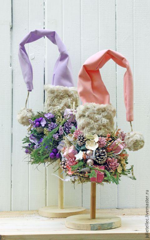 Купить Елочки - сиреневый, розовый, новогодний интерьера, новогодние украшения, настольная елка, оригинальный подарок