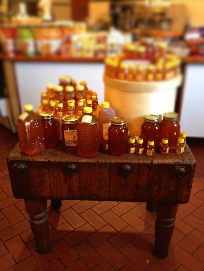 Antique butcher block table...love.