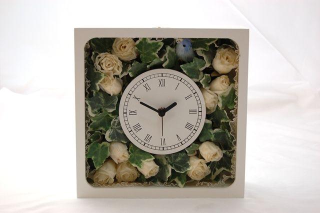 アーティフィシャルフラワークロック・造花の時計 Artificial Flower Clock