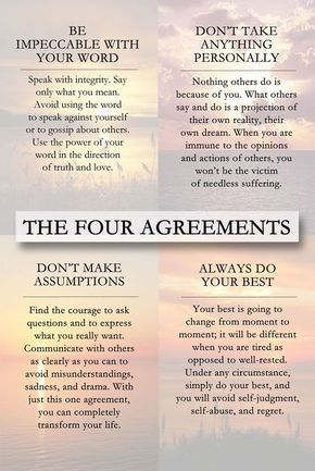 25 Inspirational Quotes From The Four Agreements Floral