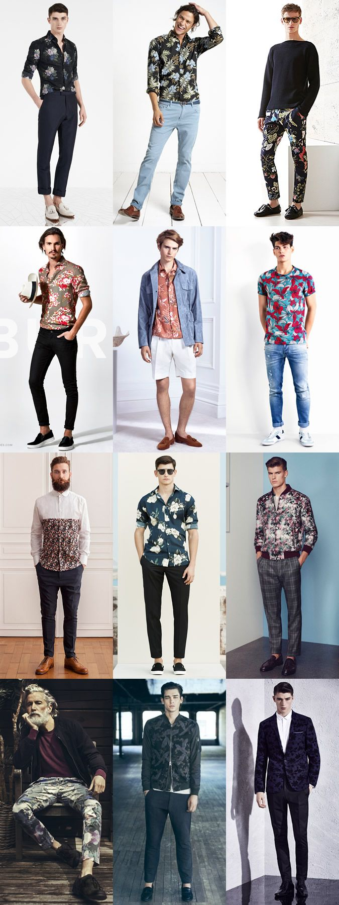 Men's Floral Clothing Spring/Summer Outfit Inspiration Lookbook