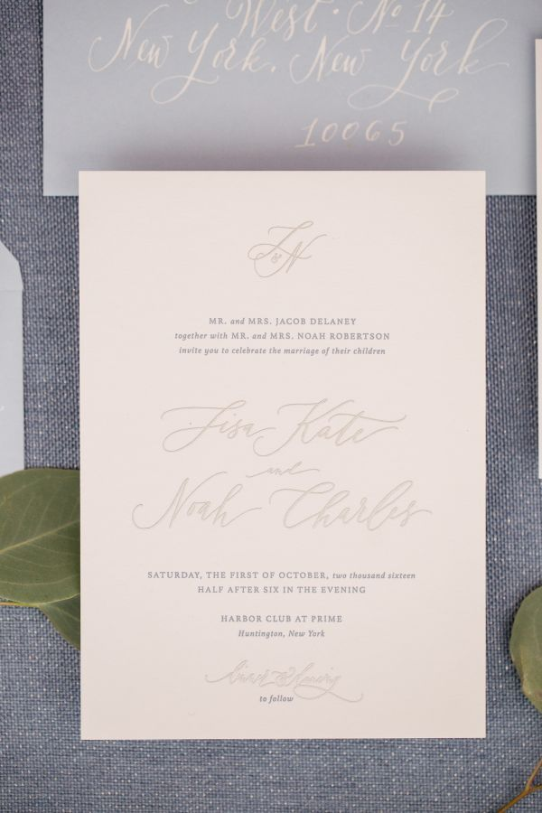 south african traditional wedding invitations samples%0A Pale Pink and Gray Wedding Invitations