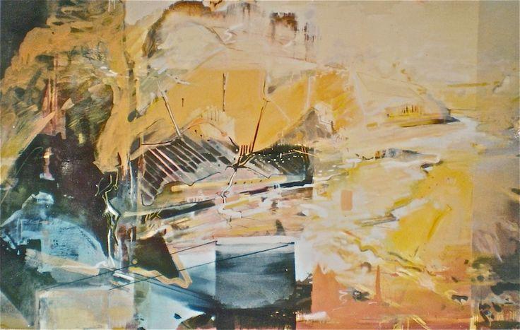 ELAINE d'ESTERRE - Katherine Gorge 1, 2003, oil on canvas 180x240 cm from An Archaeology of Landscape by Elaine d'Esterre at http://elainedesterreart.com and http://www.facebook.com/elainedesterreart/ and http://instagram.com/desterreart/