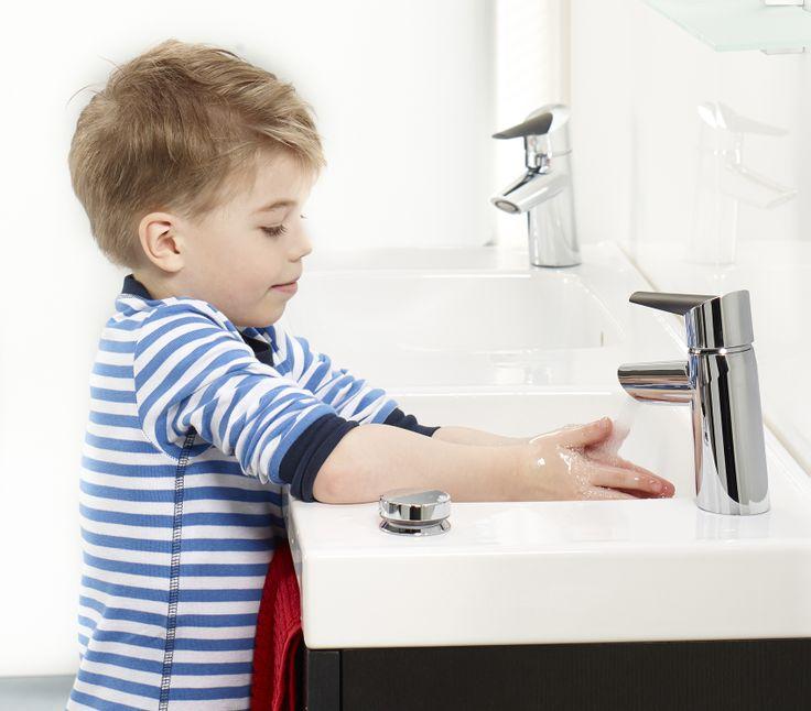 Oras Optima håndvaskarmatur med Smart trykknap