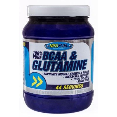 NRGFUEL 100% BCAA & Glutamine powder has been scientifically formulated to promote full muscle recovery, growth and repair whilst preventing muscle breakdown.