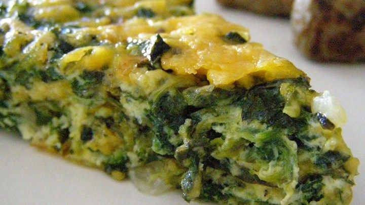 Crustless Spinach Quiche-loved this! Added chopped ham.