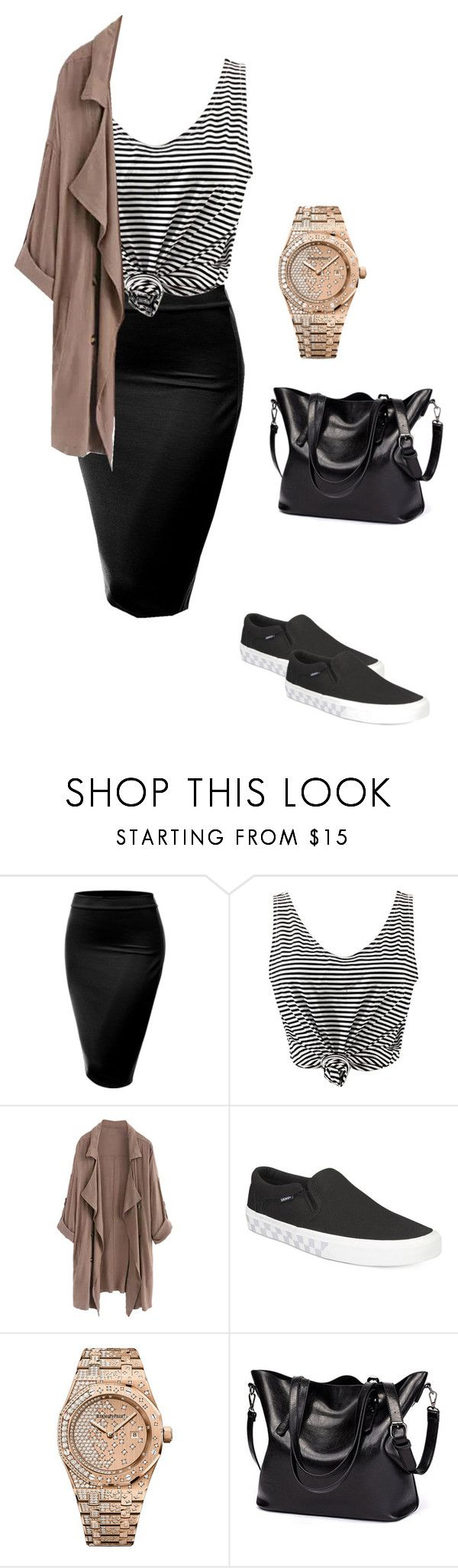 """Untitled #91"" by mayventu1999 on Polyvore featuring J.TOMSON, WithChic, Vans and Audemars Piguet"