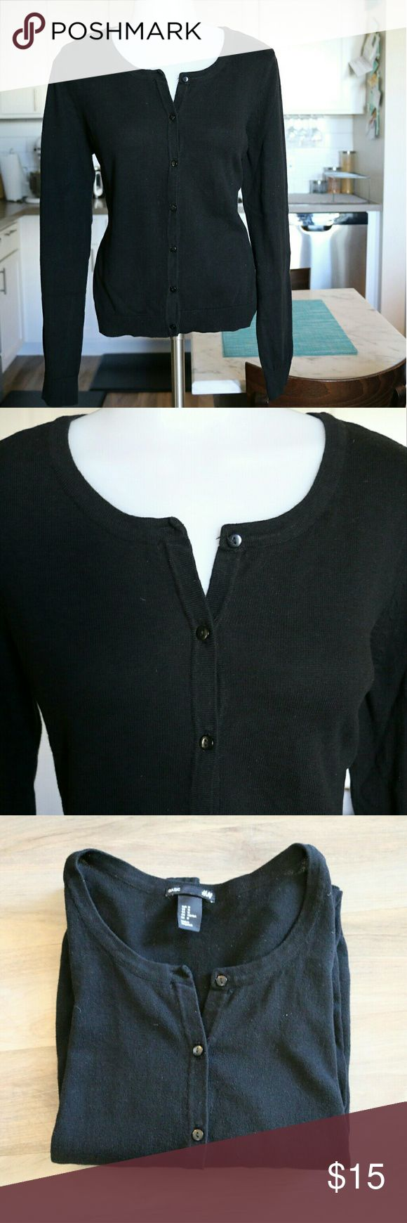 Basic Black Cardigan A black cardigan is the staple to every closet. Cute, comfy and reliable with any outfit. Fabric: 100% Cotton  Condition: New without tags, never worn H&M Sweaters Cardigans