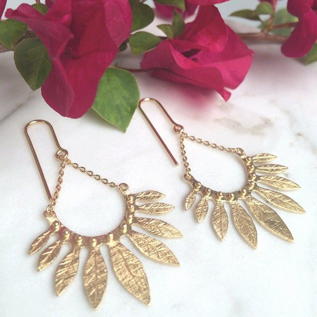 Perfect for Saturday nights in the moonlight ... Our Carissa Earrings are online now! #templeofthesunjewellery #gold #goldjewellery