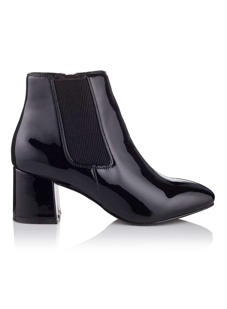 Bottines noires vernies AQUA