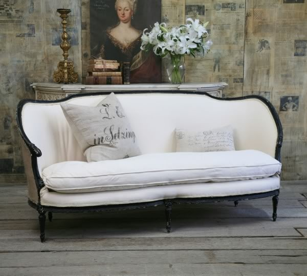 French vintage couch