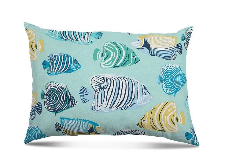 "Stratford Home Indoor/Outoor Decorative 12""x20"" Throw Lumbar Pillows, Fish Tales"